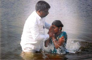 Bro. V. Satyam Baptizes Hindu Student, Kommu Sirisha